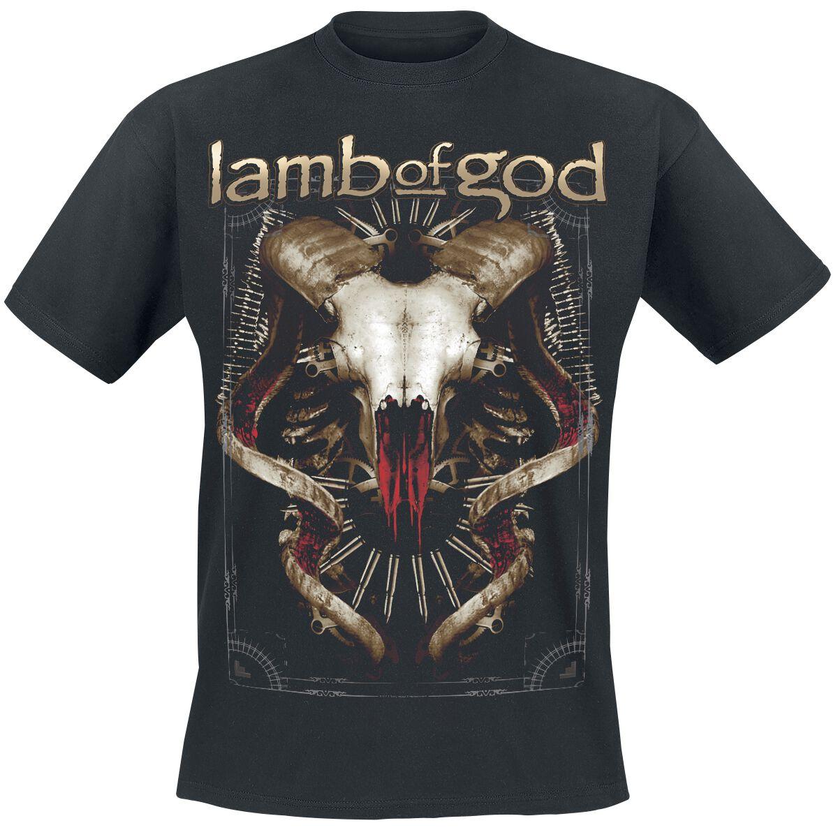 Zespoły - Koszulki - T-Shirt Lamb Of God Tech Steer T-Shirt czarny - 320880