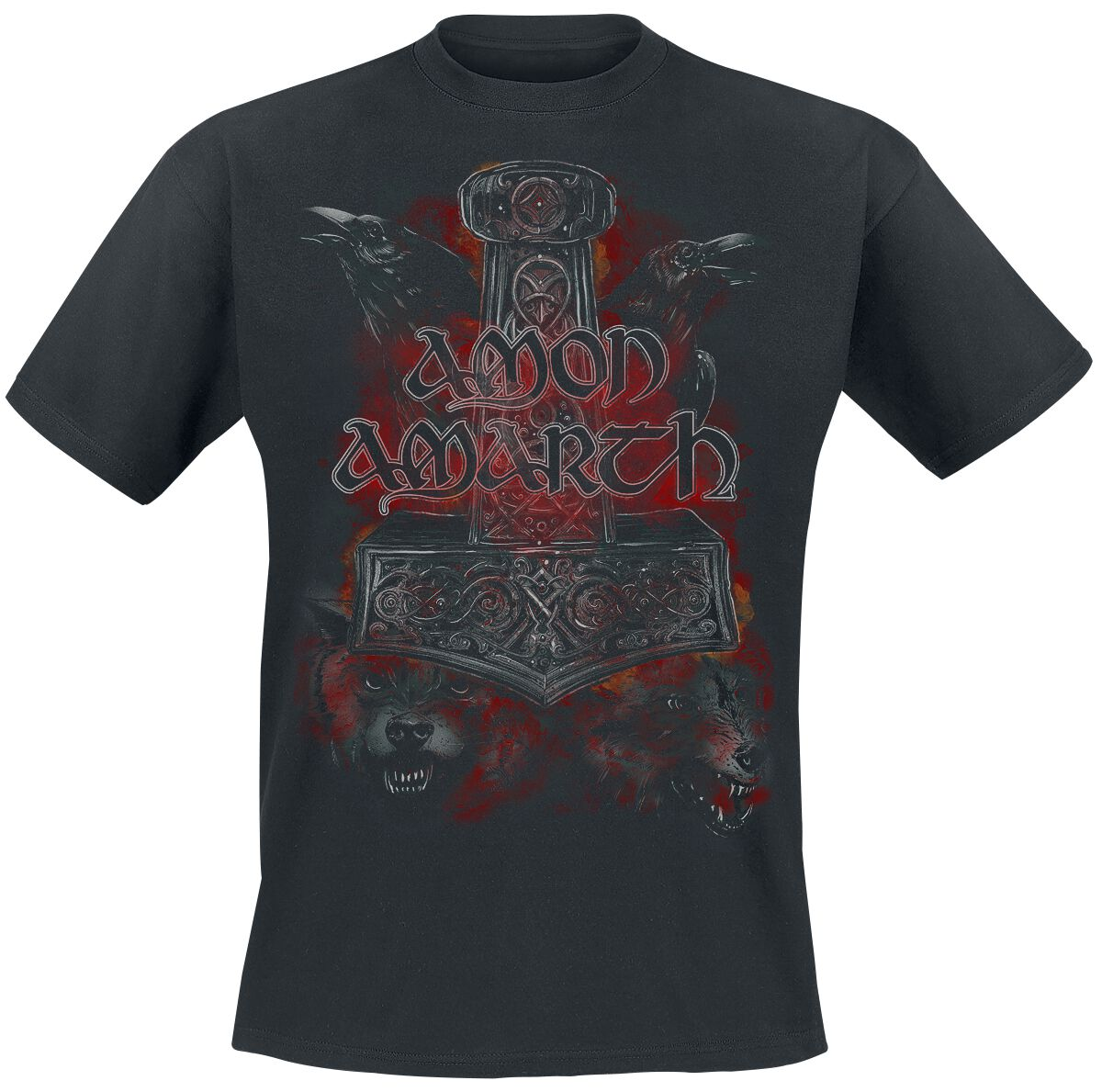 Image of   Amon Amarth Crows And Wolves T-Shirt sort