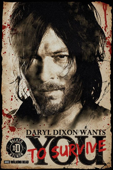 Image of   The Walking Dead Daryl Dixon - Survive Plakat Standard
