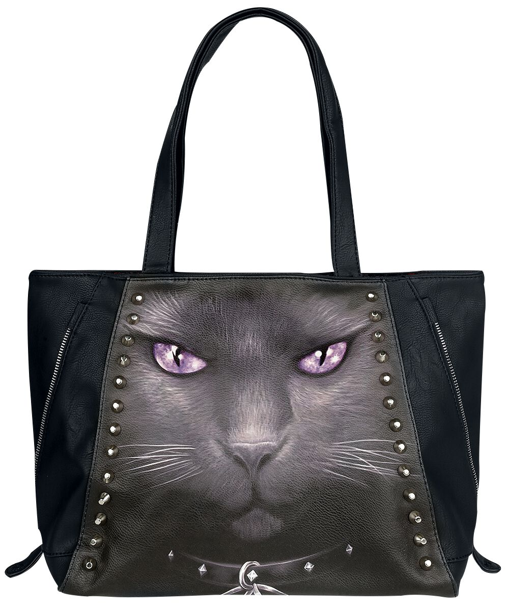 Image of   Spiral Black Cat Håndtaske sort