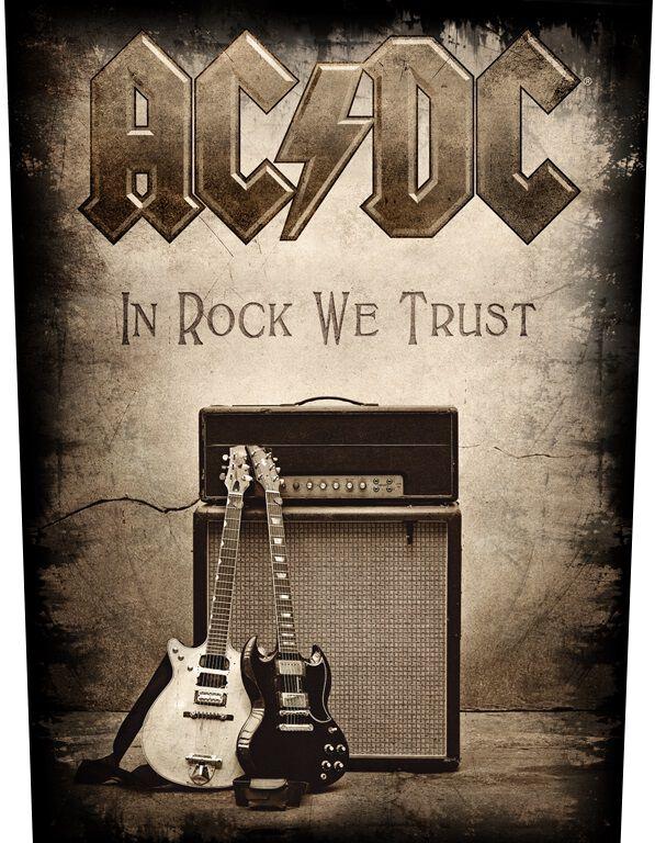 Image of   AC/DC In Rock We Trust Rygmærke Standard