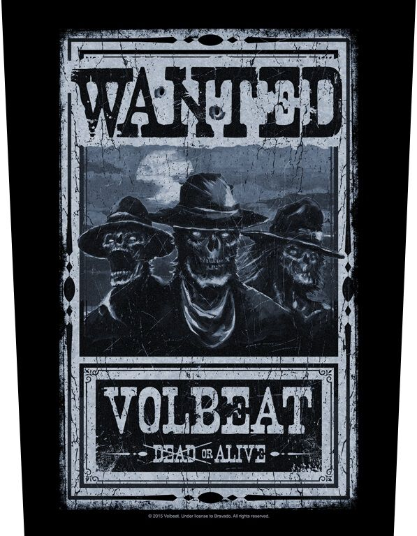 Image of   Volbeat Wanted Rygmærke Standard