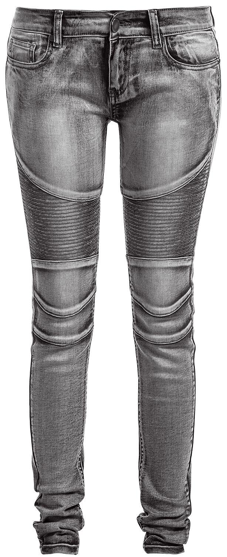 Image of   Forplay Biker Pants Girlie jeans grå