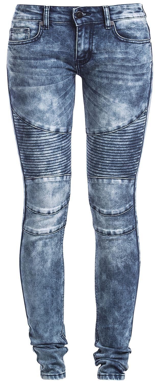 Image of   Forplay Biker Pants Girlie jeans blå