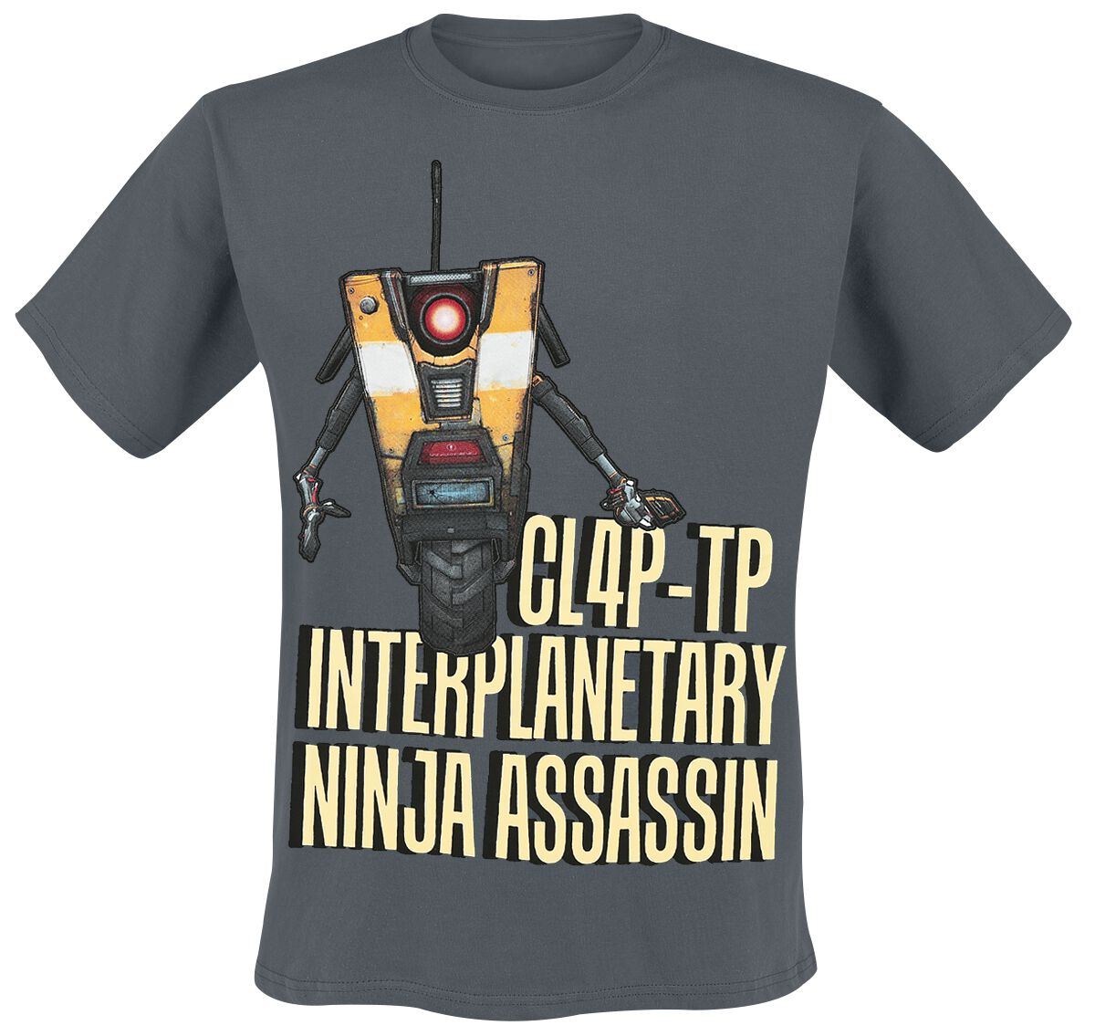 Merch dla Fanów - Koszulki - T-Shirt Borderlands Claptrap Assassin T-Shirt ciemnoszary - 321813