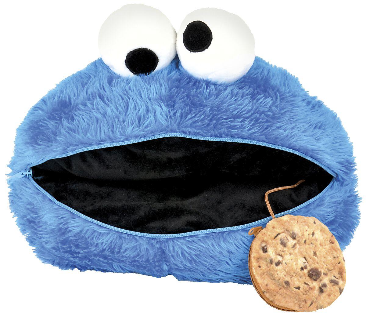 Sesamstraße Cookie Monster Deko-Kissen royalblau