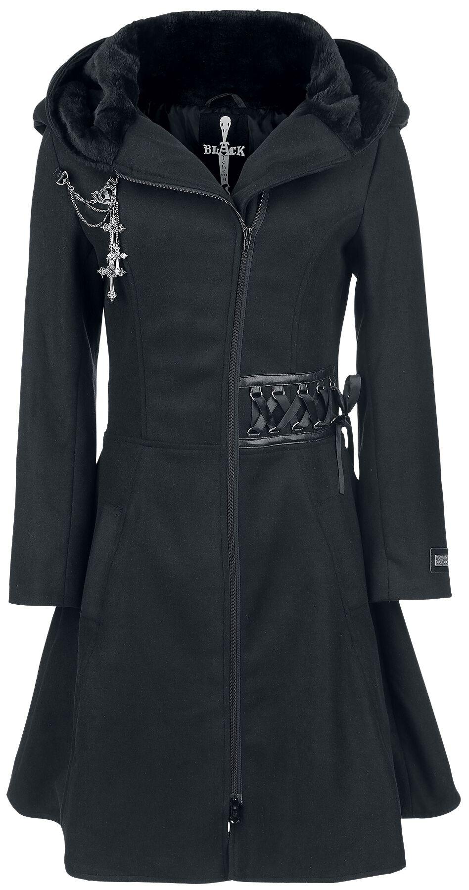 Poizen Industries Tears Coat Płaszcz damski czarny