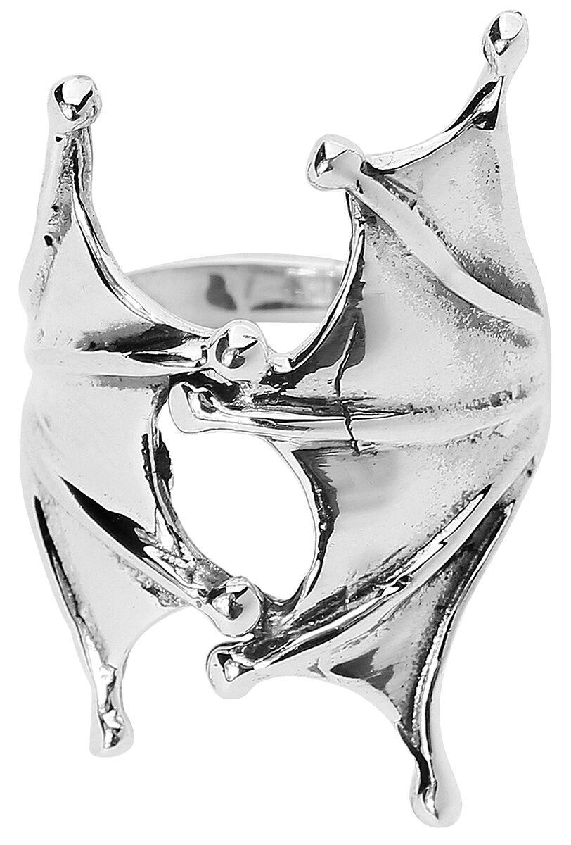 Marki - Pierścienie - Pierścień Rock-Silver Bat Wings Pierścień standard - 322321