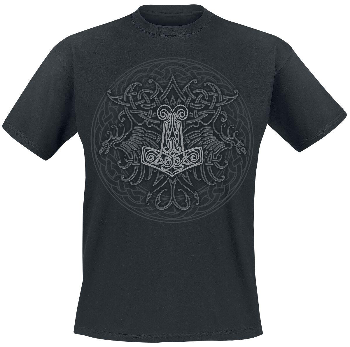 Motyw - Koszulki - T-Shirt Celtic Viking Shield T-Shirt czarny - 322864