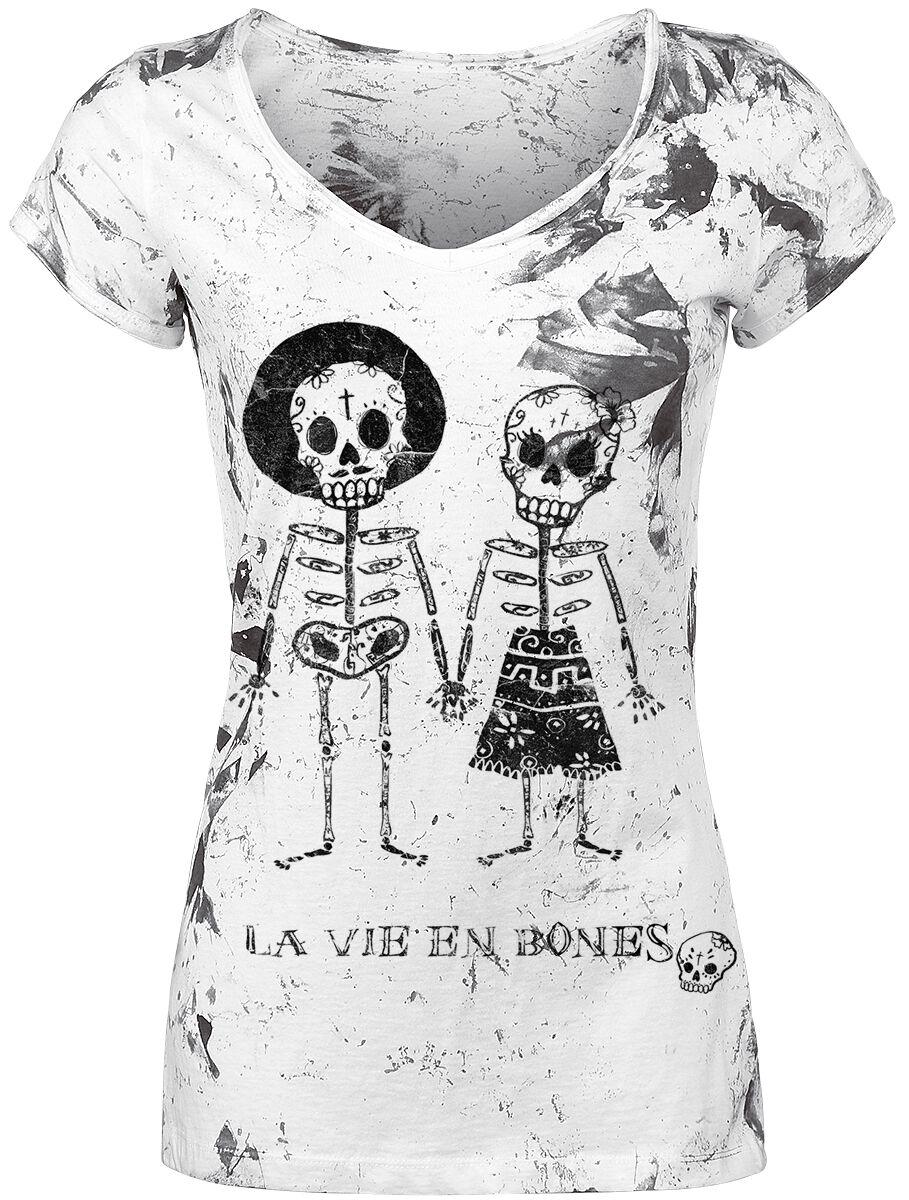 Image of   Outer Vision Skeleton Lovers Girlie trøje hvid
