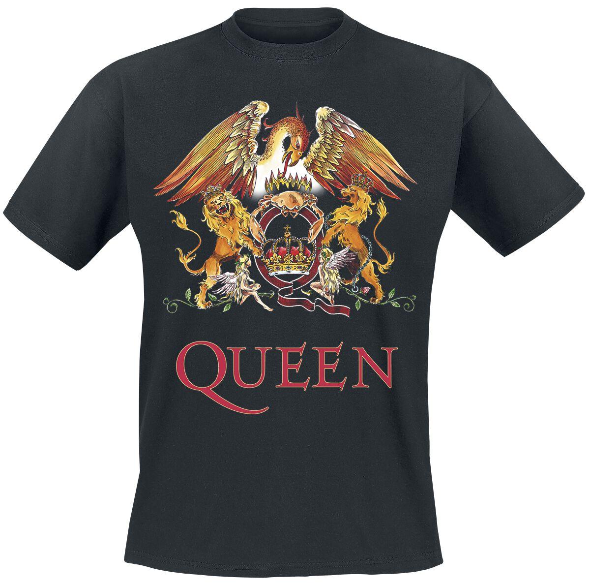Image of   Queen Crest Vintage T-Shirt sort
