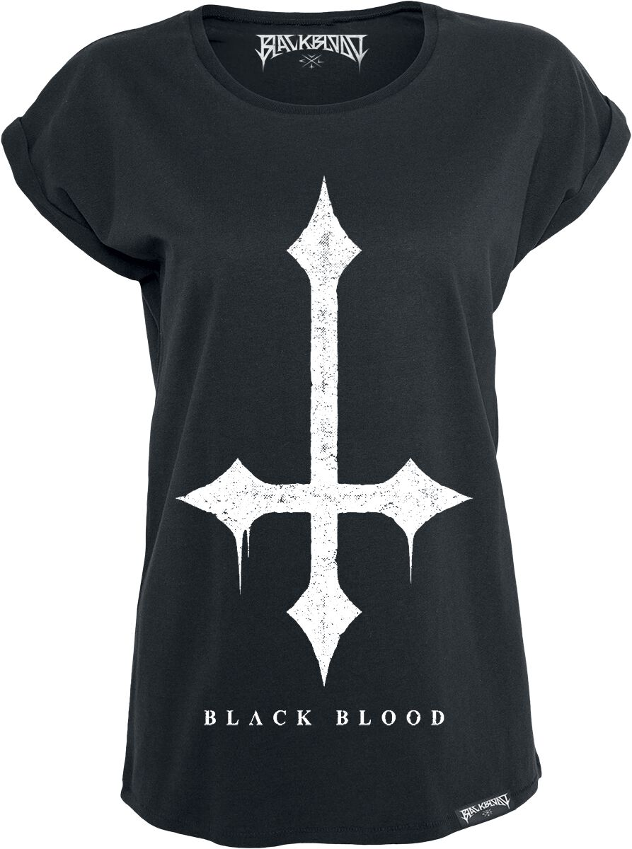 Black Blood Cross Koszulka damska czarny