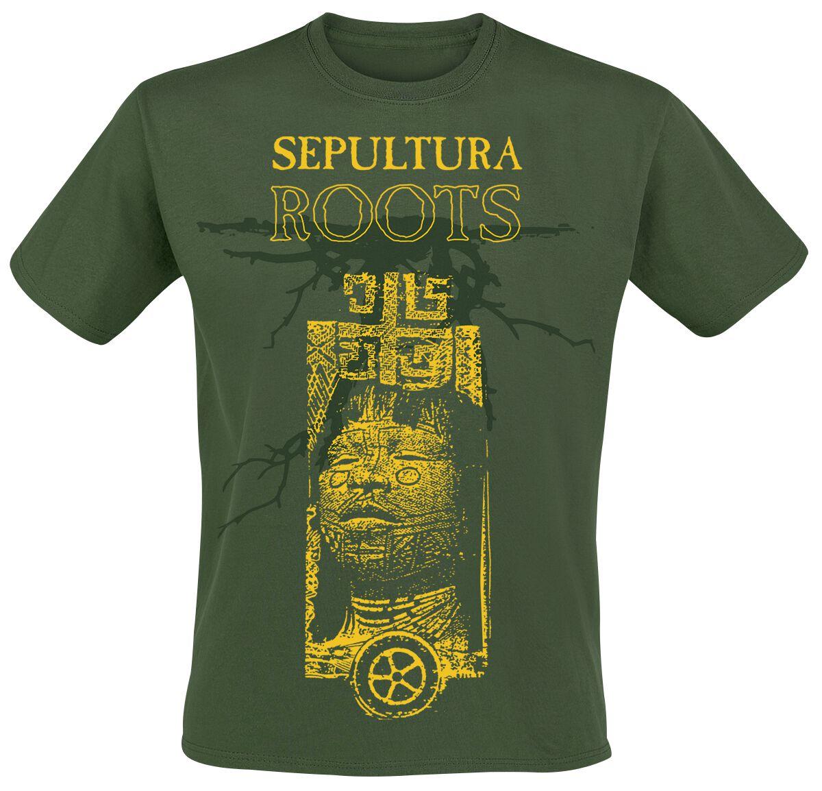 Zespoły - Koszulki - T-Shirt Sepultura Roots 30 Years T-Shirt ciemnozielony - 323485