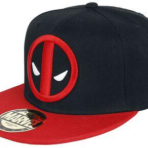 Deadpool Logo Casquette Snapback noir/rouge