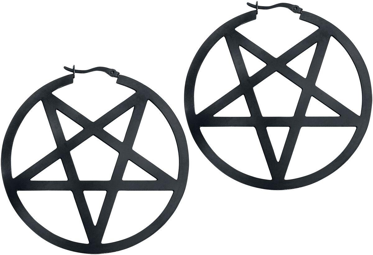Image of   Wildcat Black Pentagram Øreringe sæt Standard