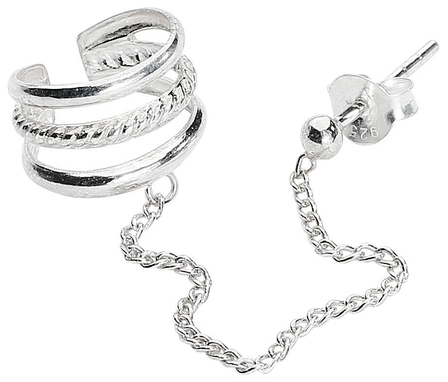 Ohrringe für Frauen - Silver Cuff Ohrstecker Standard  - Onlineshop EMP