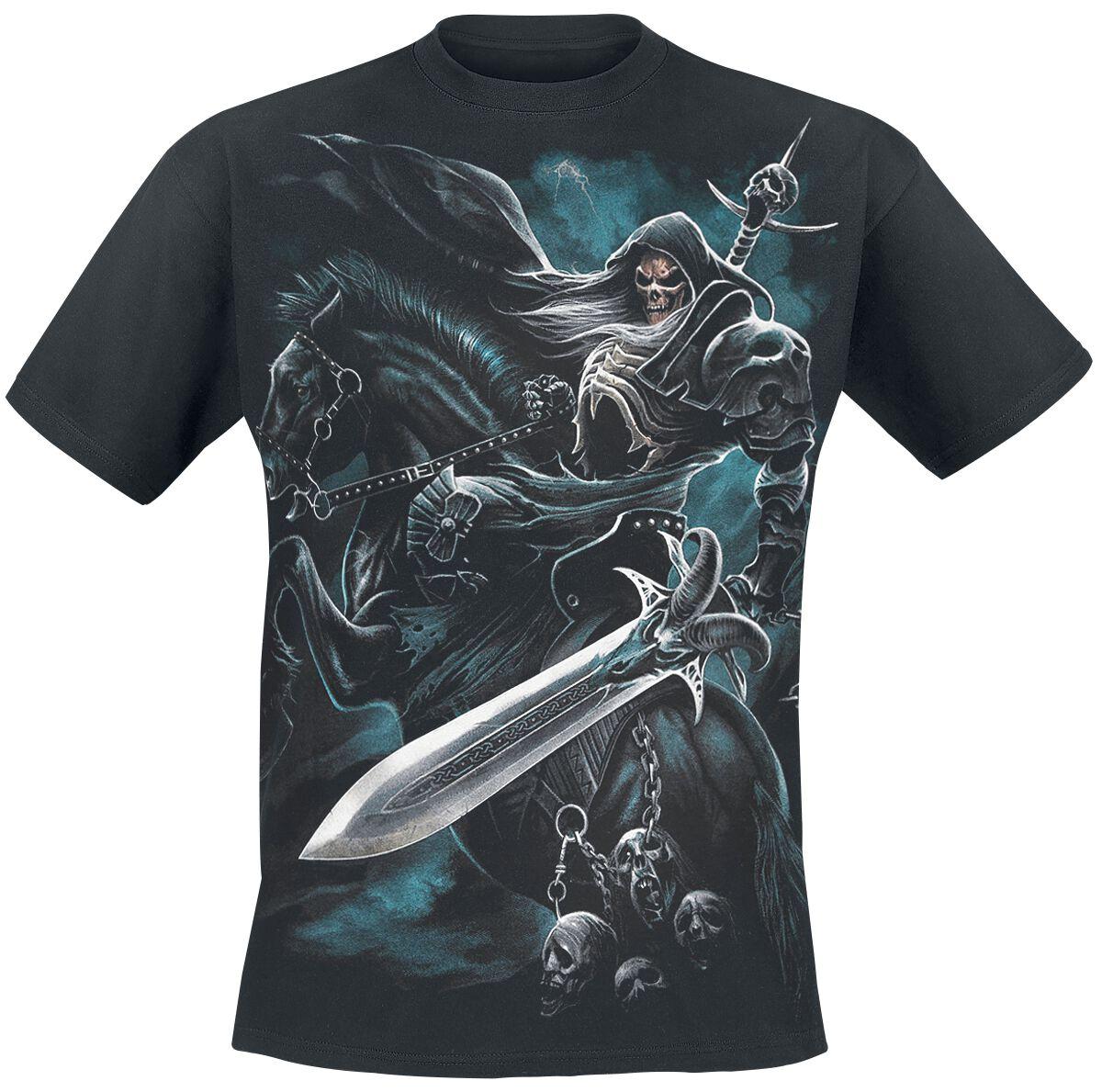 Image of   Spiral Grim Rider T-Shirt sort