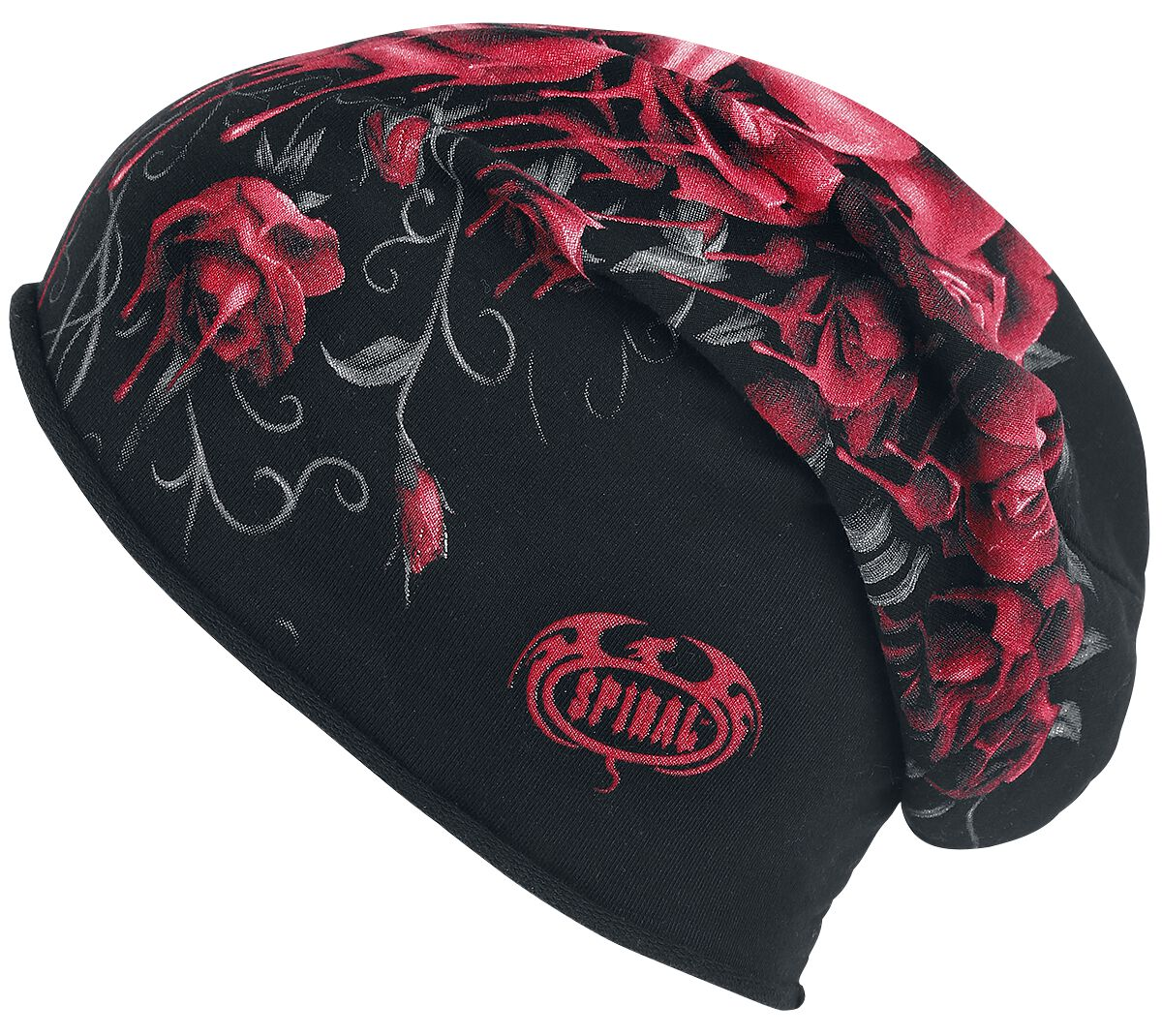 Image of   Spiral Blood Rose Beanie sort