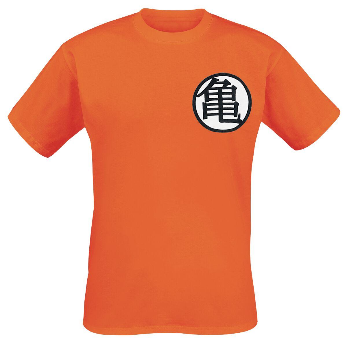 Merch dla Fanów - Koszulki - T-Shirt Dragon Ball Z - Symbols T-Shirt pomarańczowy - 324110
