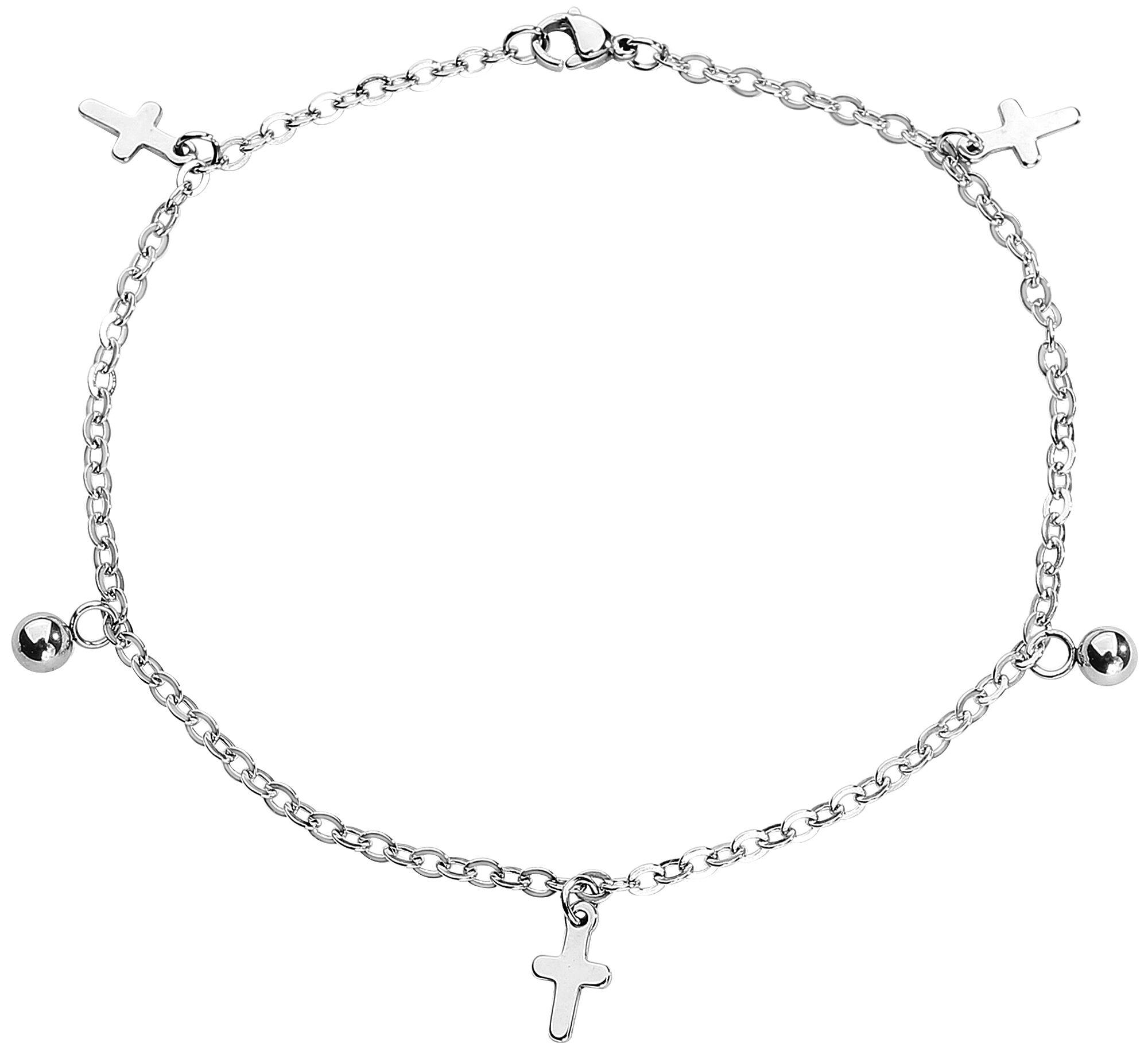 Basics - Biżuteria na stopę - Łańcuszek na kostkę Crosses Łańcuszek na kostkę standard - 324159