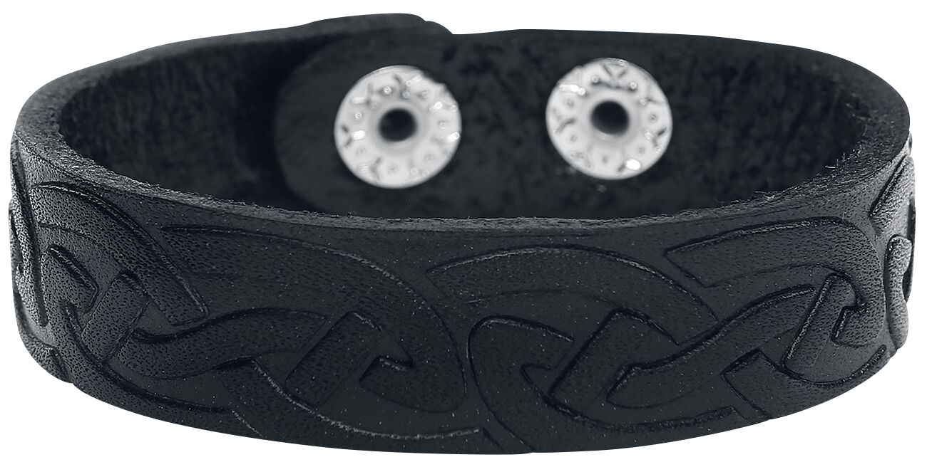 Basics - Bransoletki - Bransoletka skórzana Celtic Black Bransoletka skórzana standard - 324396