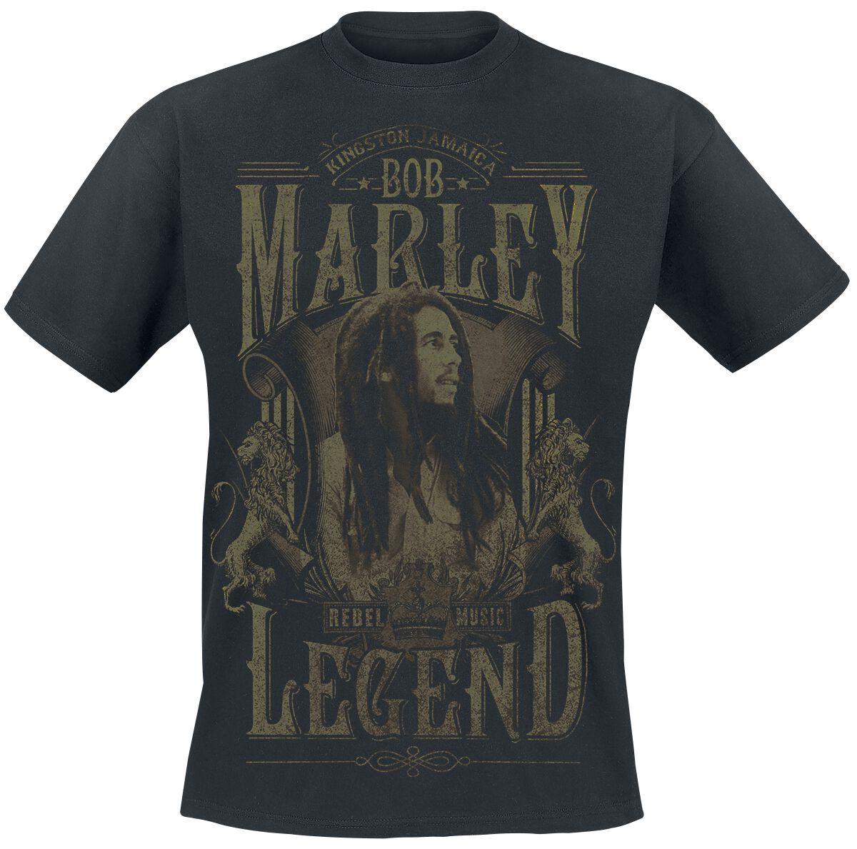 Zespoły - Koszulki - T-Shirt Bob Marley Rebel Legend T-Shirt czarny - 324555