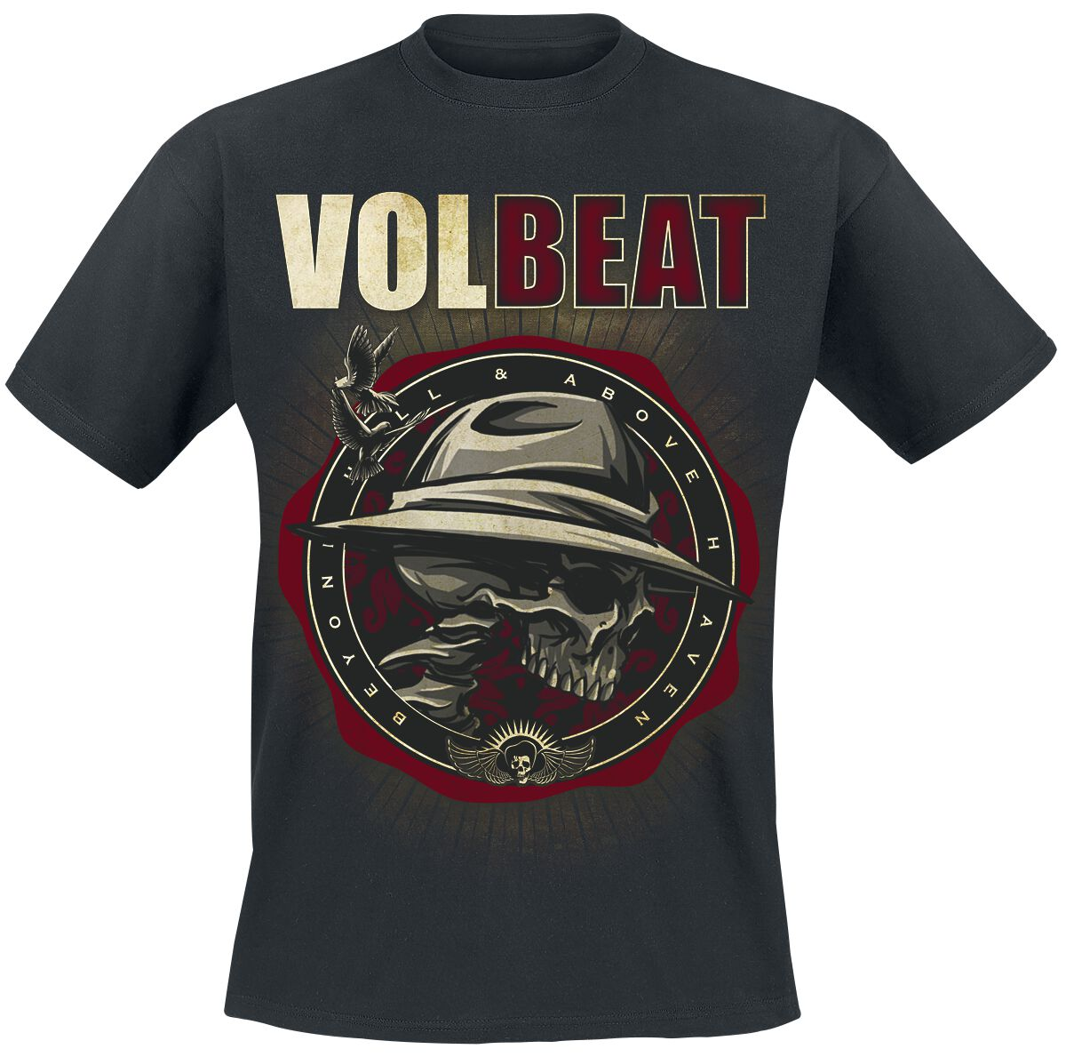 Image of   Volbeat Beyond Hell & Above Heaven T-Shirt sort