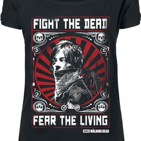 The Walking Dead Daryl Dixon - Fight T-shirt Femme noir