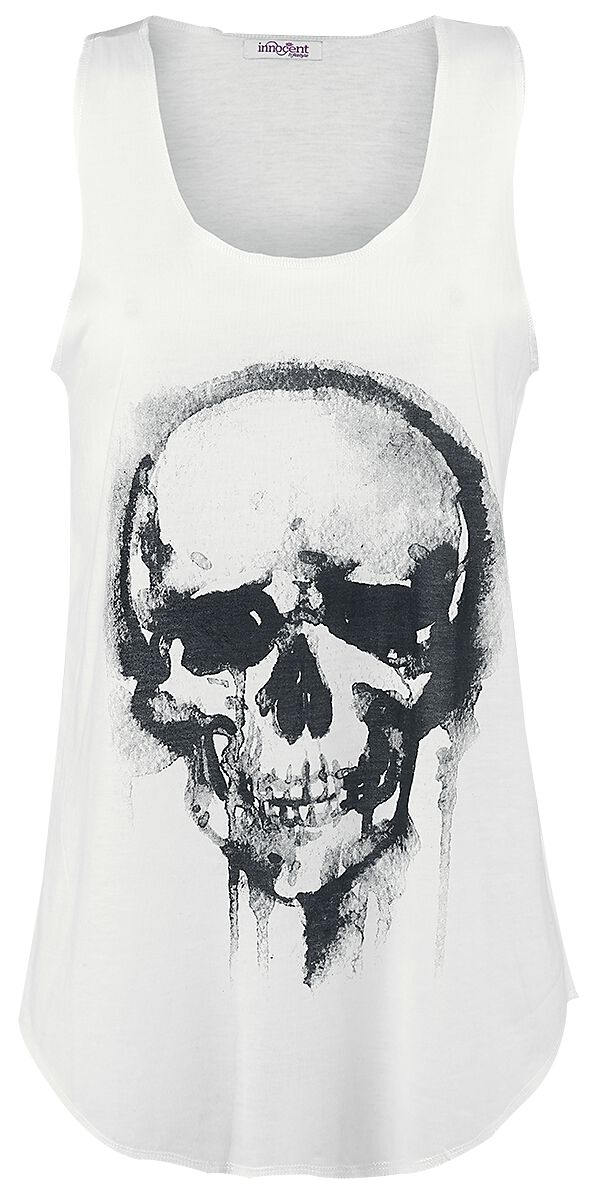 Image of   Innocent Skull Girlie top råhvid