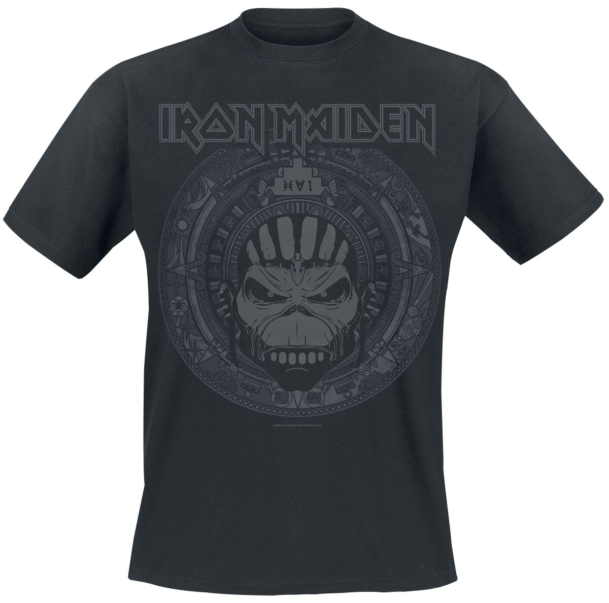 Image of   Iron Maiden Book Of Souls Skull T-Shirt sort