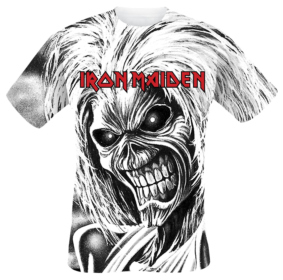 Image of   Iron Maiden Killers All-over T-Shirt hvid
