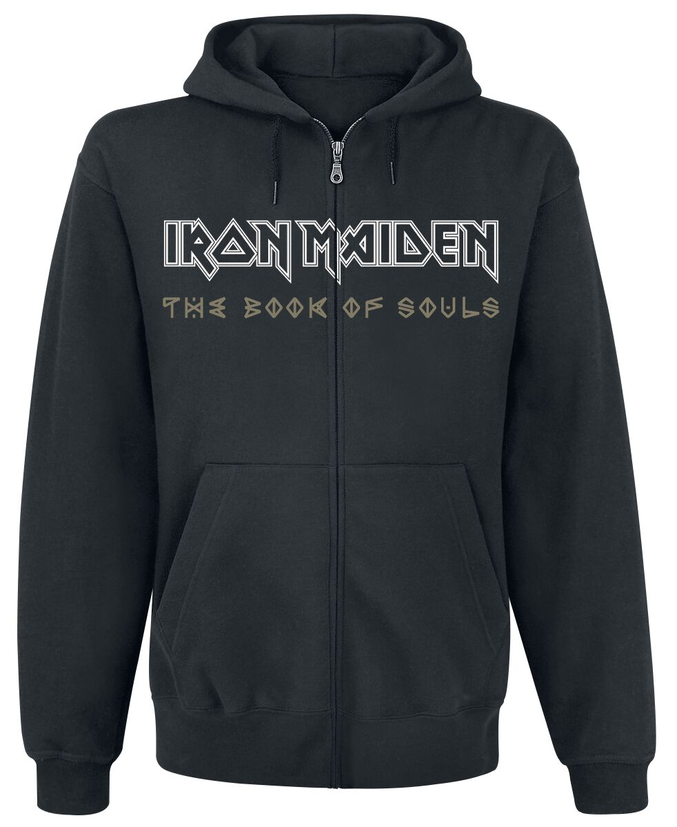 Image of   Iron Maiden Book Of Souls Exploding Head Hættejakke sort
