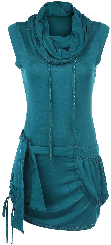 Image of   Forplay High Neck Dress Kjole petrol
