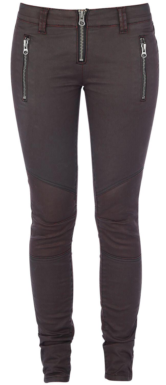 Basics - Spodnie długie - Jeansy damskie Forplay Biker Pants Jeansy damskie czerwony - 325251