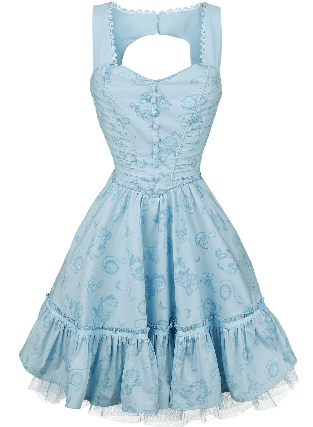Image of   Alice i Eventyrland Through The Looking Glass - Alice Classic Dress Kjole blå
