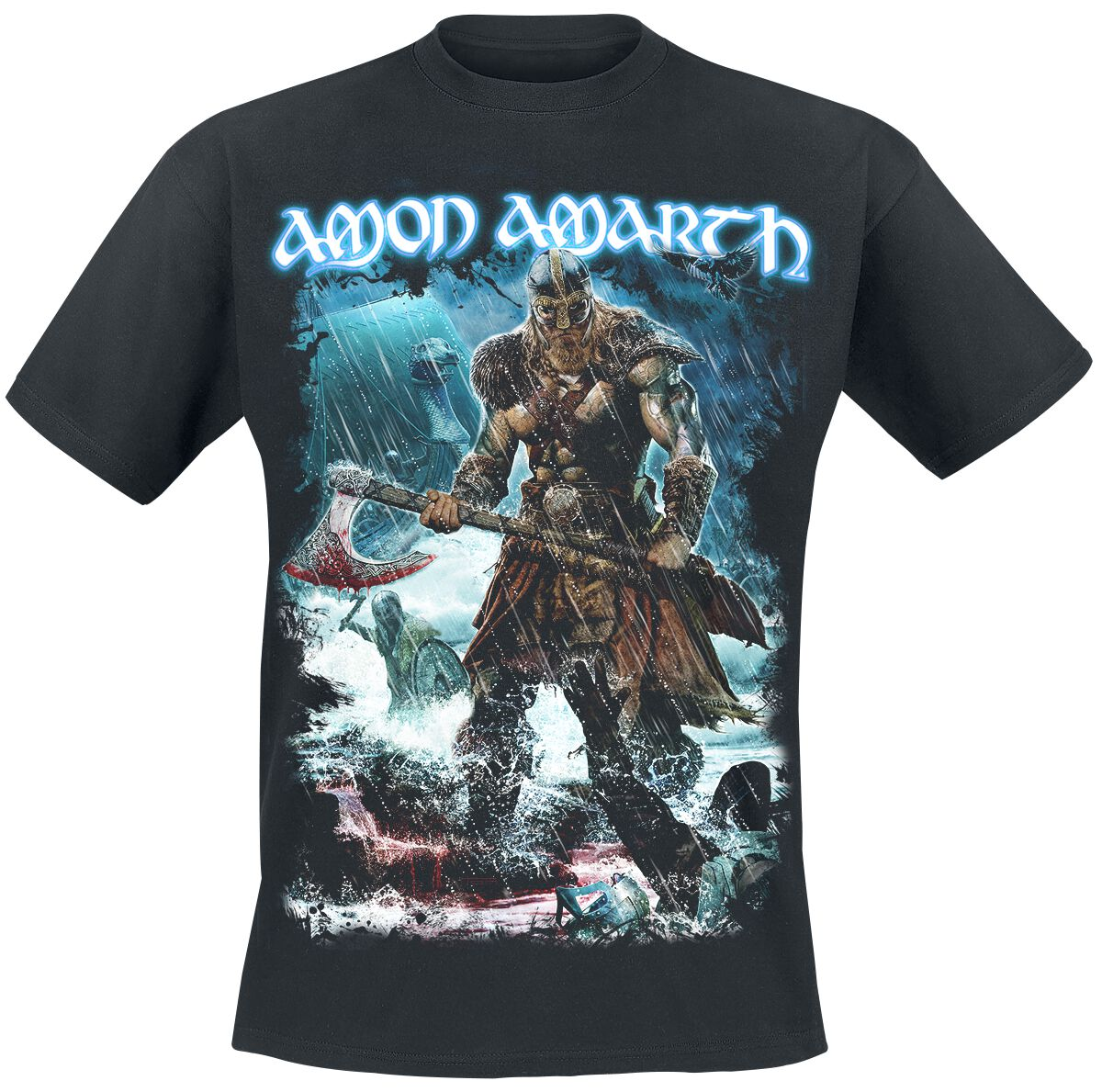 Image of   Amon Amarth Jomsviking T-Shirt sort