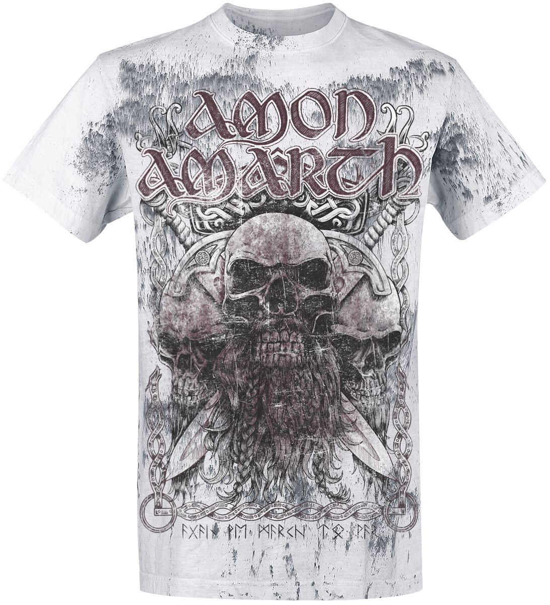 Image of   Amon Amarth Beardskulls T-Shirt lys grå