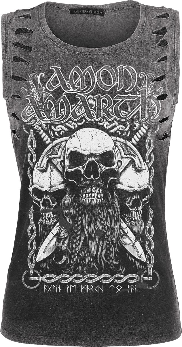 Image of   Amon Amarth Beardskulls Girlie top mørk grå