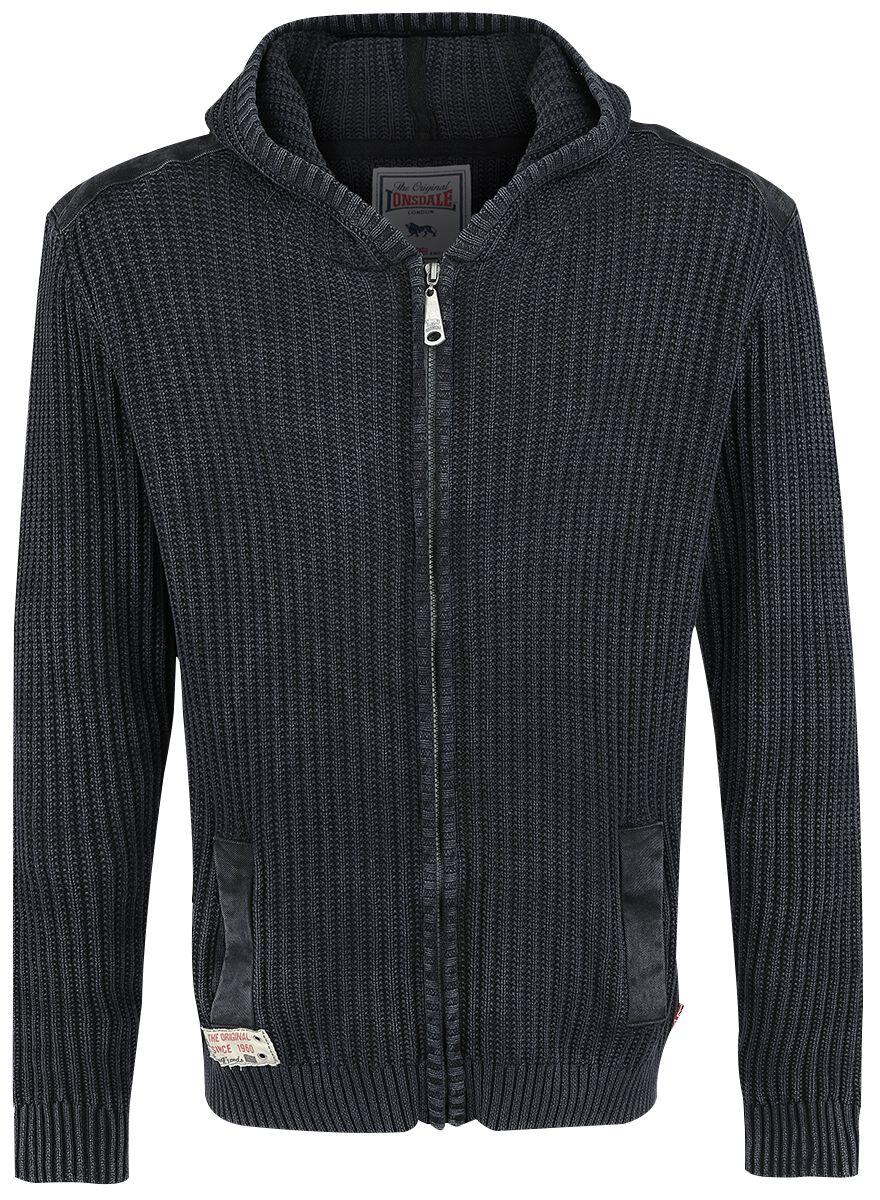Marki - Bluzy z kapturem - Bluza z kapturem rozpinana Lonsdale London Kirk Bluza z kapturem rozpinana szary - 326053