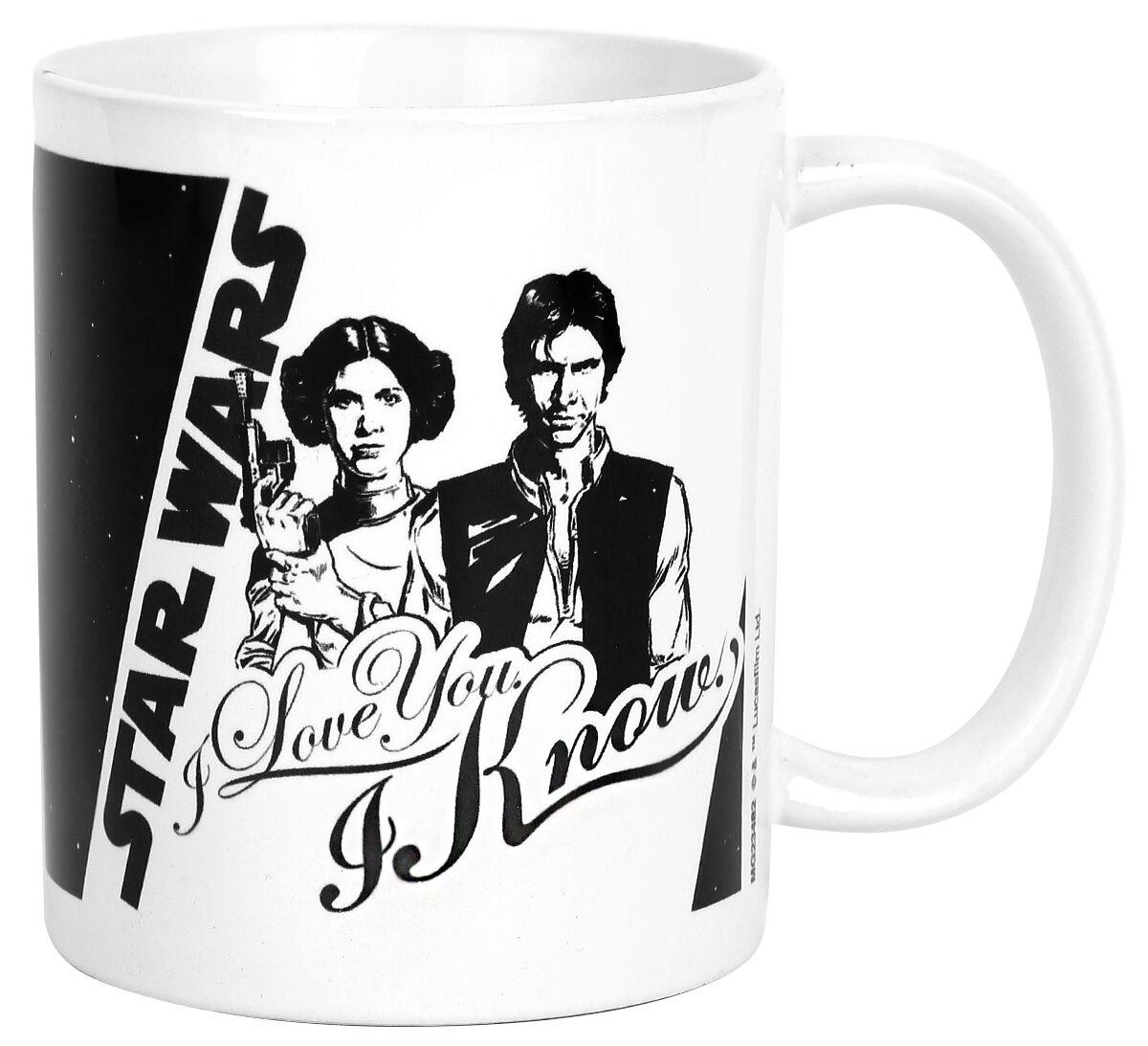 Star Wars I Love You Tasse weiß