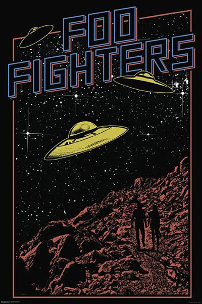 Foo Fighters Ufos Poster Standard