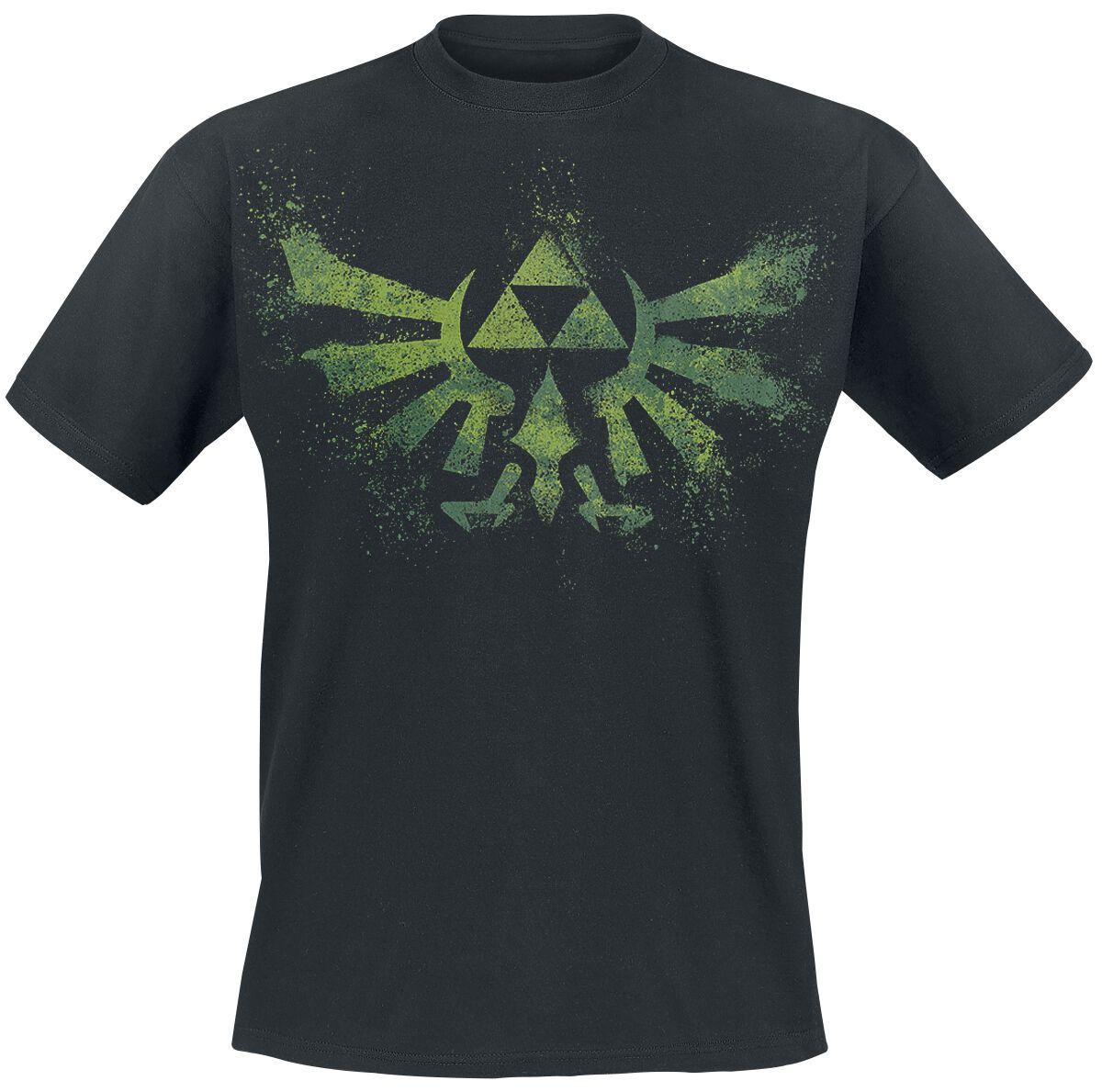 Image of   The Legend Of Zelda Crest Splatter T-Shirt sort