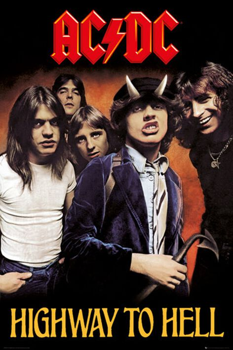 Image of   AC/DC Highway to hell Plakat Standard