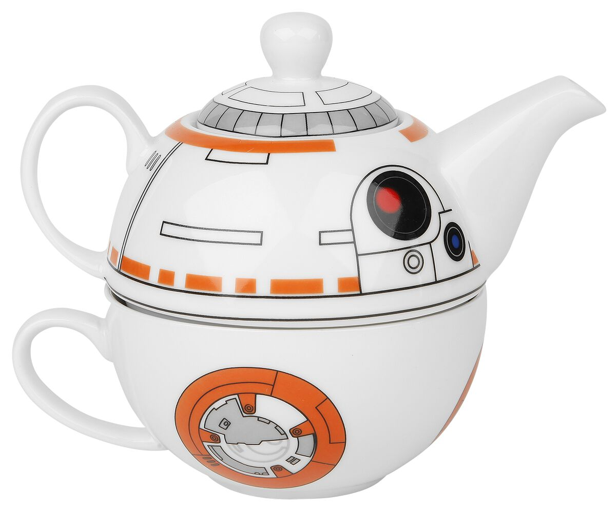 Image of   Star Wars BB-8 Tekande + kop Tepotte orange-hvid