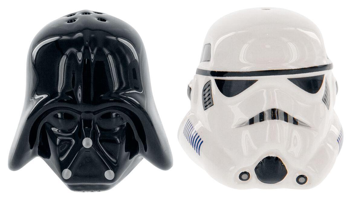 Image of   Star Wars Darth Vader & Stormtrooper - Salt & Pepper Krydderidispenser sort-hvid