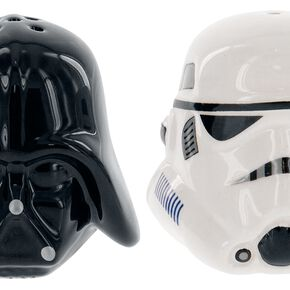Star Wars: Darth Vader/Stormtrooper Helmet Salt & Pepper Shakers