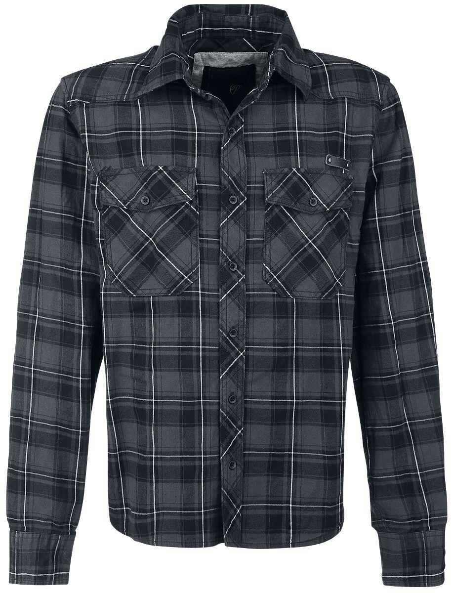 Image of   Brandit Checkshirt Skjorte grå-sort-hvid