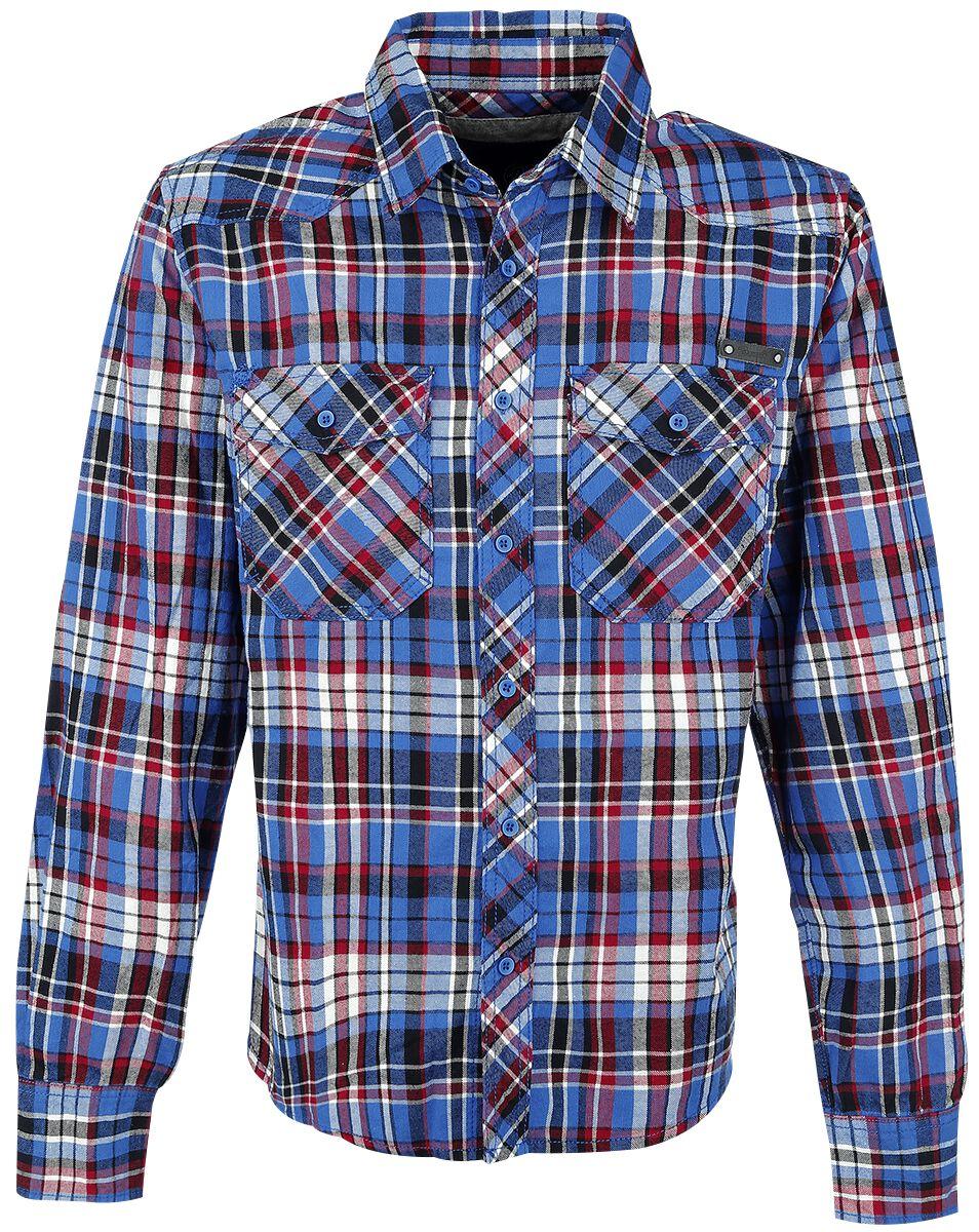 Image of   Brandit Checkshirt Skjorte blå-sort-rød