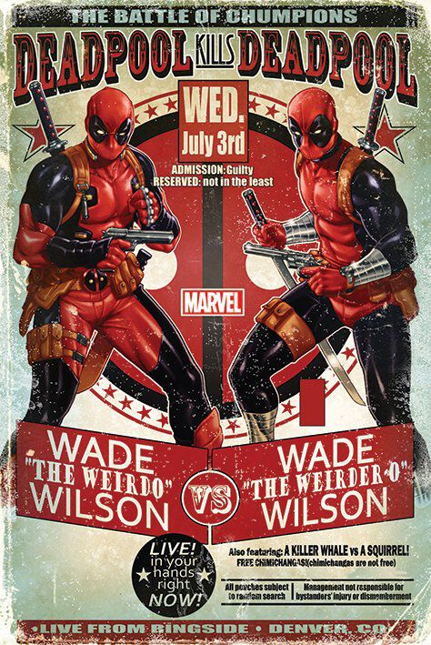 Image of   Deadpool Wade vs Wade Plakat multifarvet