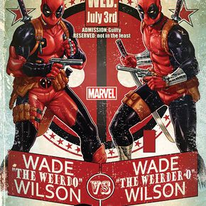 Deadpool Wade Vs Wade Poster multicolore